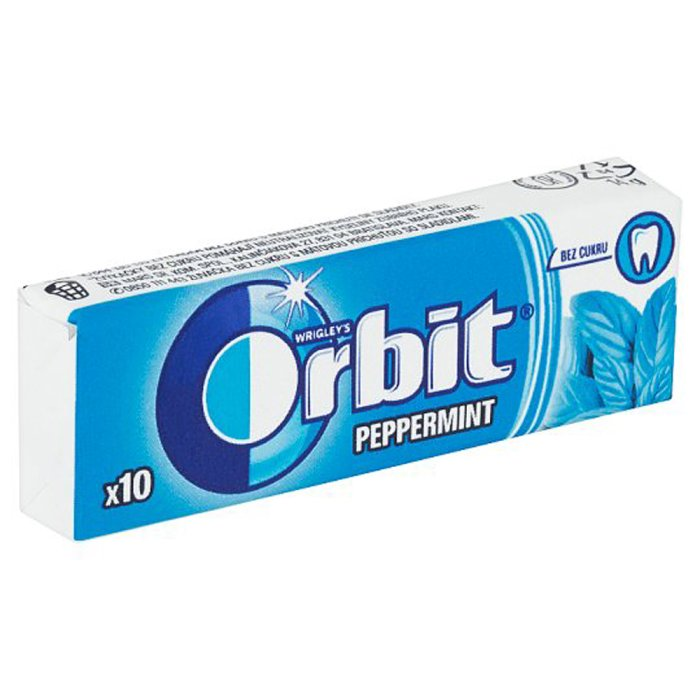 Orbit Peppermint dražé 14g 1/30